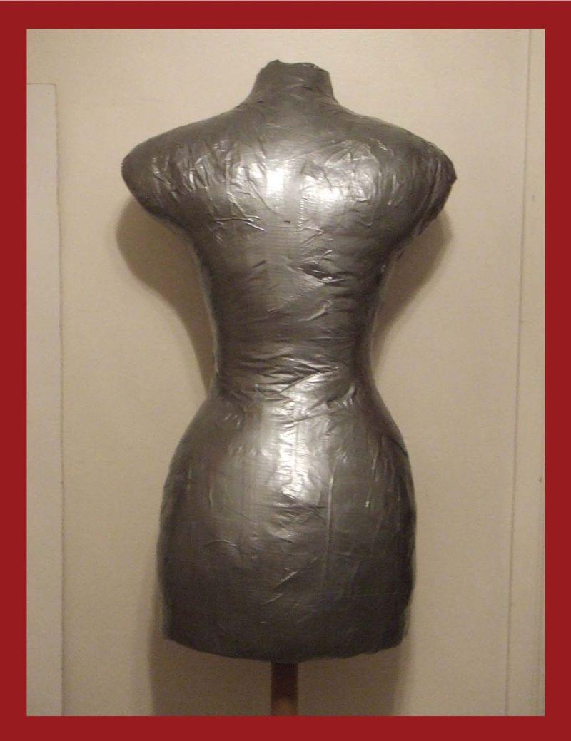 Duct Tape Dress Form Back
