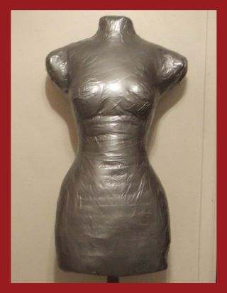 Duct Tape Dress Form Front