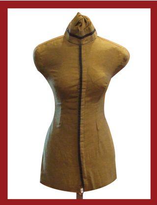 Completed DIY Dress Form closeup