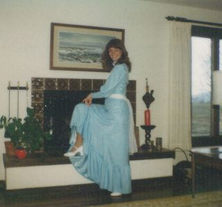 Senior Prom 1982 - Upcycled Prom Dress