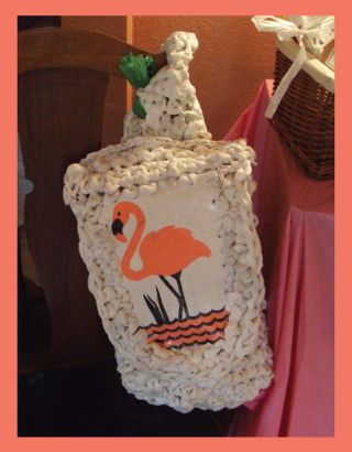 Upcyled plastic crochete bag 1