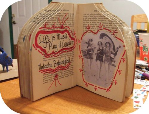 Upcycled Book Doll c