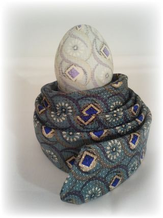 Upcycled Neck Tie Dyed Egg 7