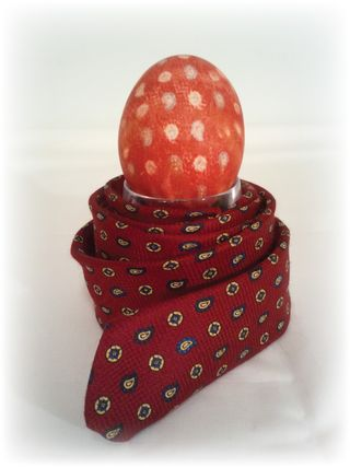 Upcycled Neck Tie Dyed Egg 8