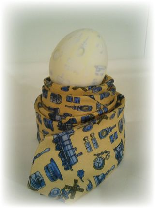 Upcycled Neck Tie Dyed Egg 2