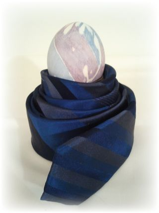Upcycled Neck Tie Dyed Egg 5