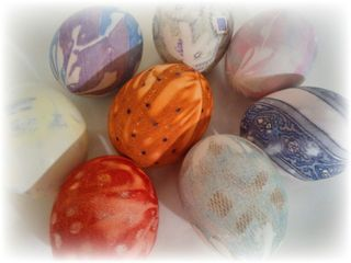 Upcycled Neck Tie Dyed Egg 10