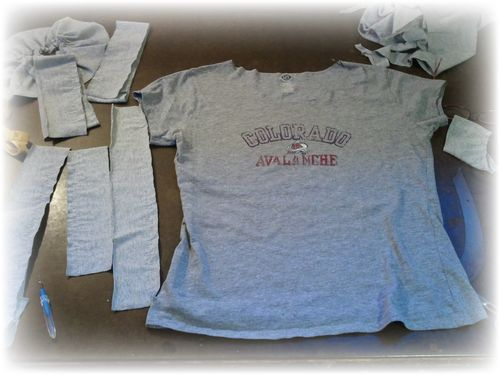 Step 1 Upcycled T-shirt