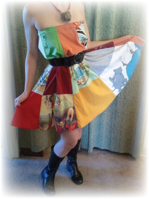 Upcycled T-shirt skirt pic 2