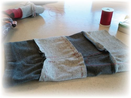 Upcycled T-shirt Leggings Step 3