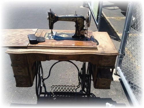 My Antique Tredal Sewing Machine