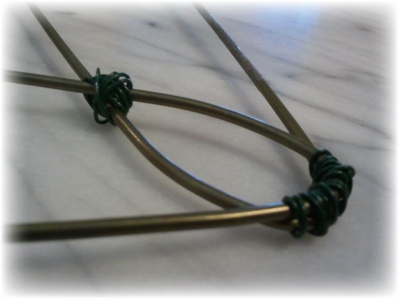 Upcycled Wire Hanger Edging Fence - Step 4