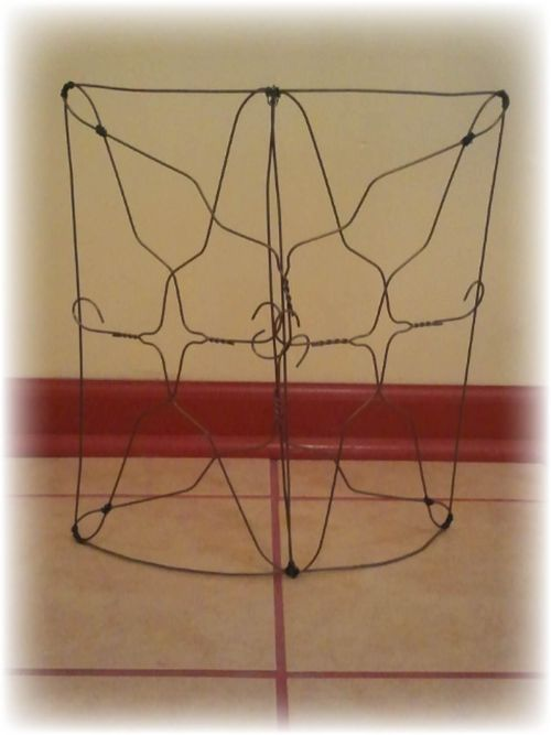 Upcycled Wire Hanger Edging Fence - Step 7