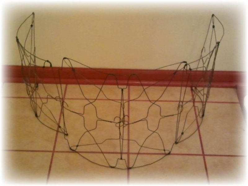 Upcycled Wire Hanger Edging Fence - Step 8