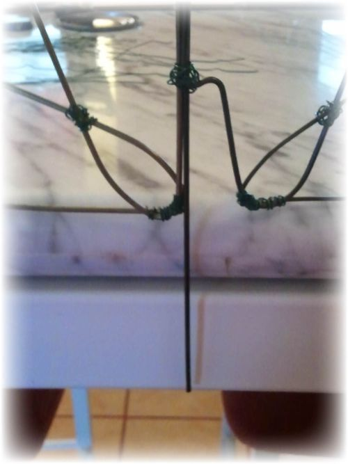 Upcycled Wire Hanger Edging Fence - Step 11