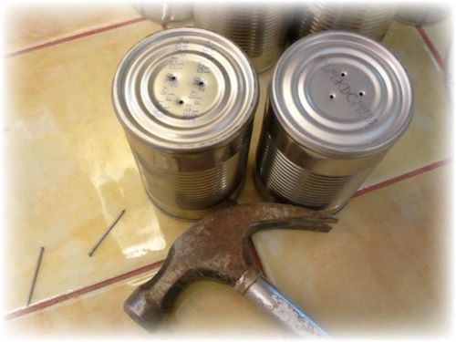 Upcycled Tin Can Flower Pots - 3