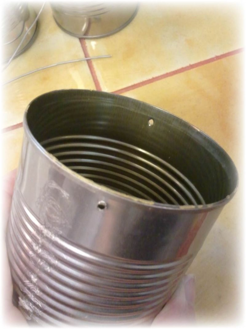 Upcycled Tin Can Flower Pots - 4