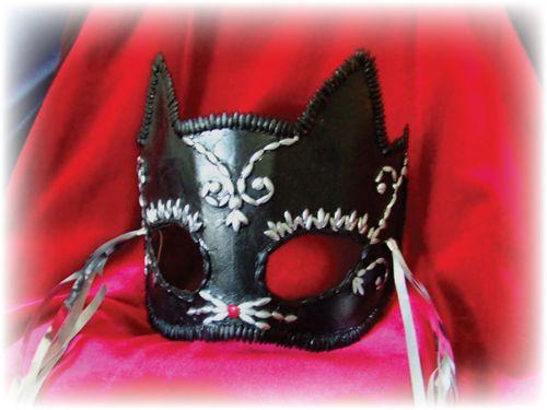 Upcycled Black Cat Mask