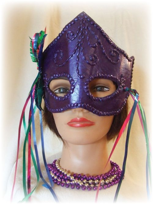 Upcycled Purple Mardi Gras Mask