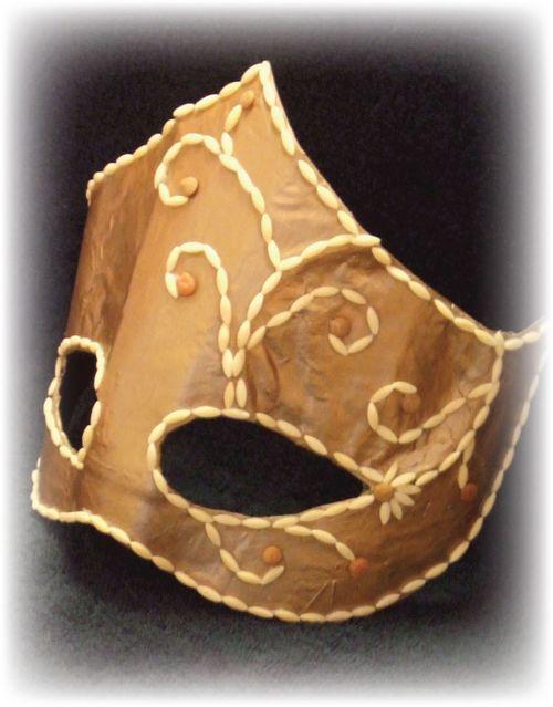 Upcycled Gold Mardi Gras Mask