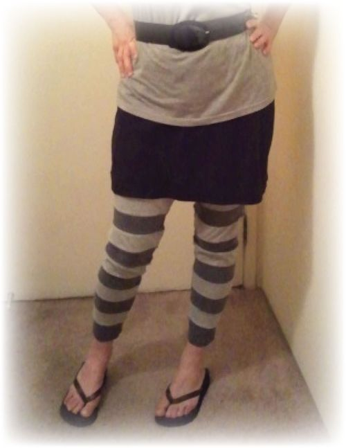 Upcycled T-shirt Leggings b