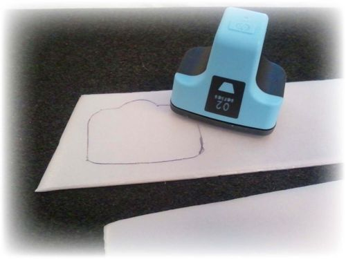 Upcycled Styrofoam Stamps Step 2