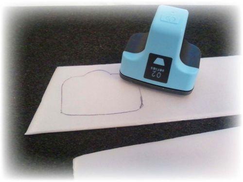 Upcycled Styrofoam Stamps Step 2
