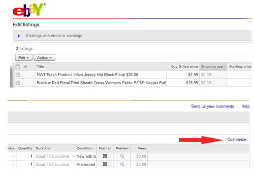 Bulk Editing Page Closeup