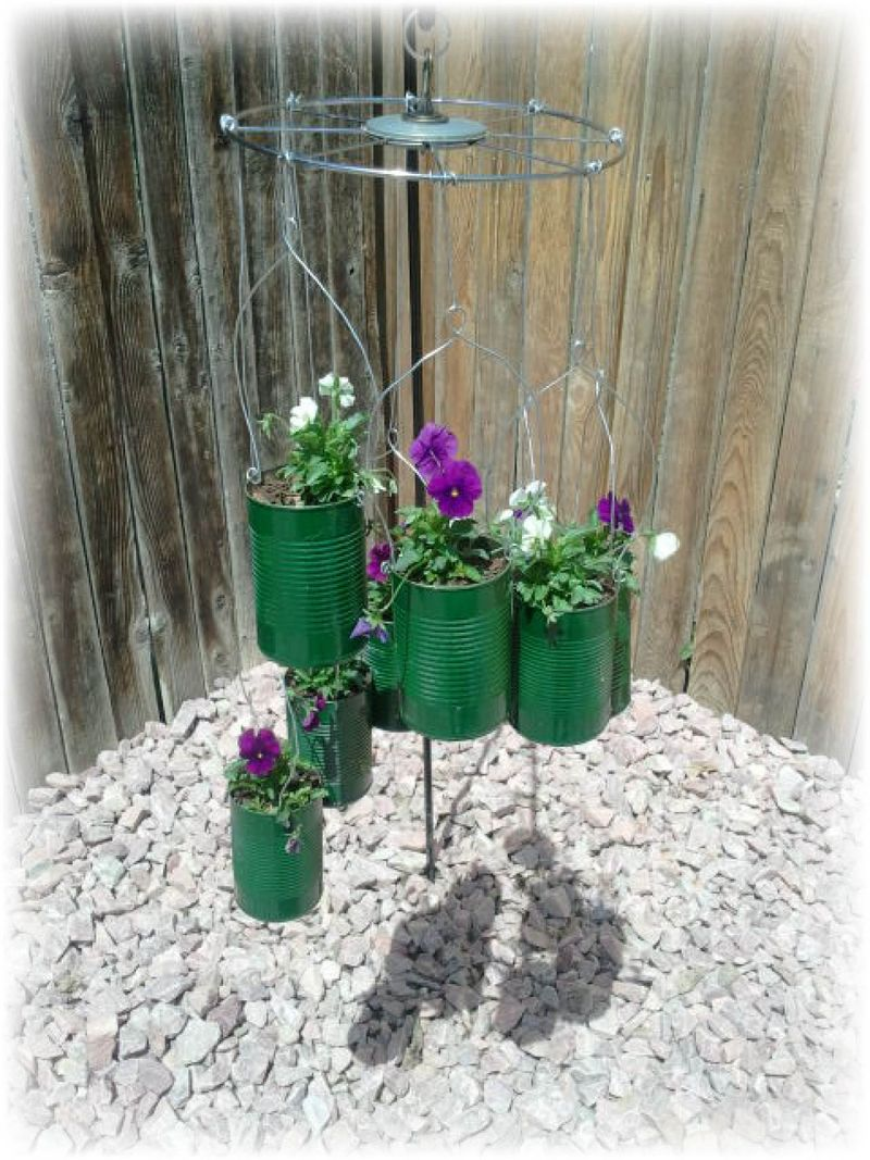 Upcycled Tin Can Flower Pots - C