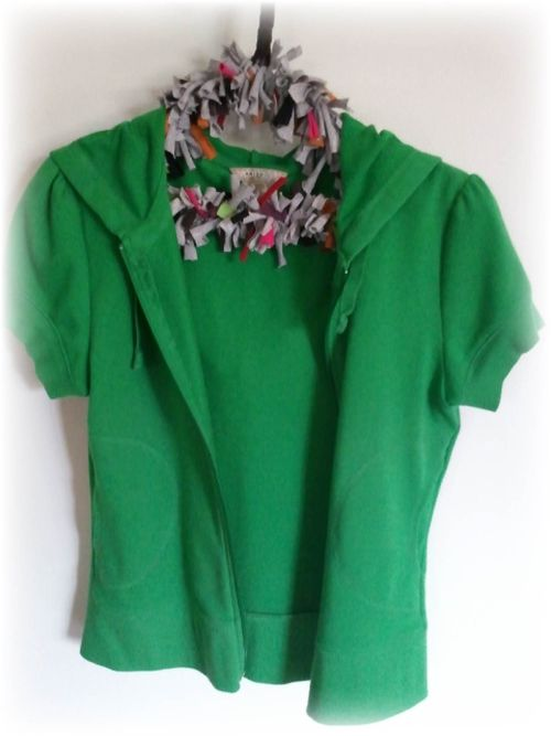 Upcycled  T-shirt Padded Wire Hanger 1c