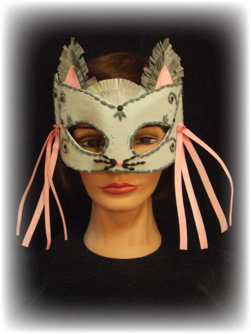Upcycled Grey Cat Mask