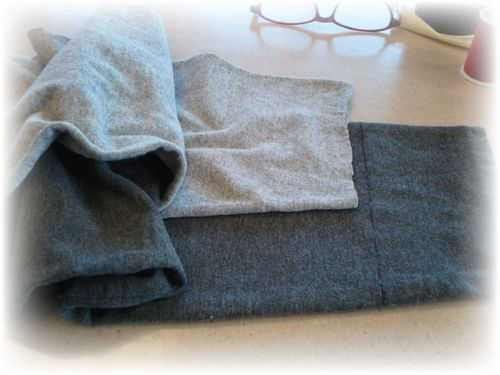 Upcycled T-shirt Leggings Step 1