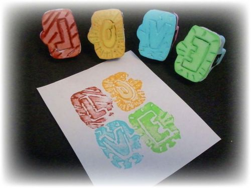 Upcycled Styrofoam Stamps