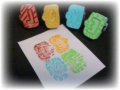 Upcycled Styrofoam Stamps