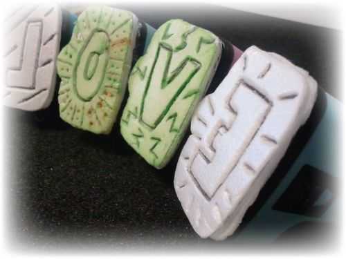 Upcycled Styrofoam Stamps a