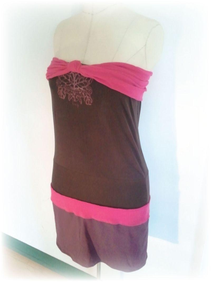 Upcycled T-shirt Dress e