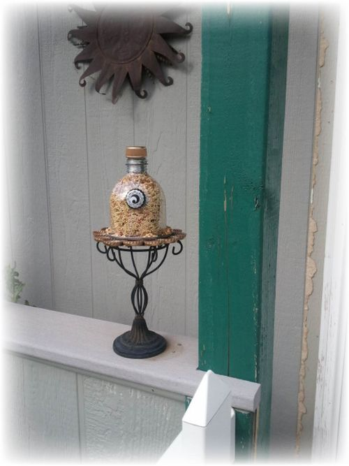 Upcycled design lab blog diy upcycled plastic bottle for Upcycled bird feeder