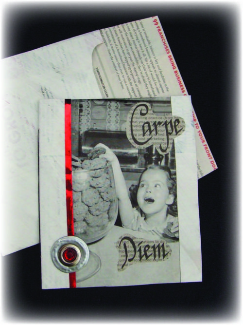 Carpe Diem Upcycled Card