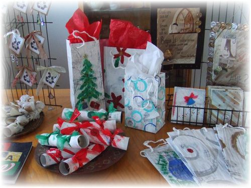 Upcycled Newspaper Gift Bags