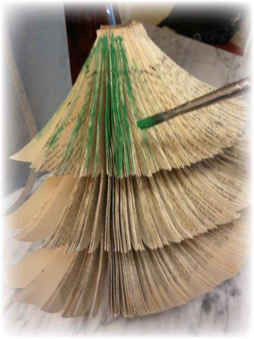 Upcycled Book Christmas Tree Sterp 4