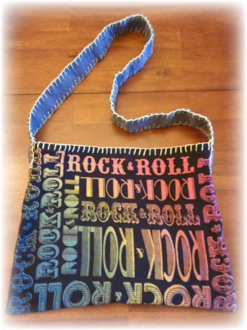 Upcycled T-shirt Shoulder Bag