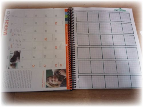 Upcycled Smash Book Day Planner Calender Pic 5