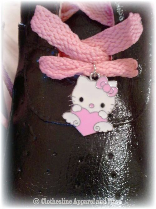 Black Hand Painted Hello Kitty Shoes 5