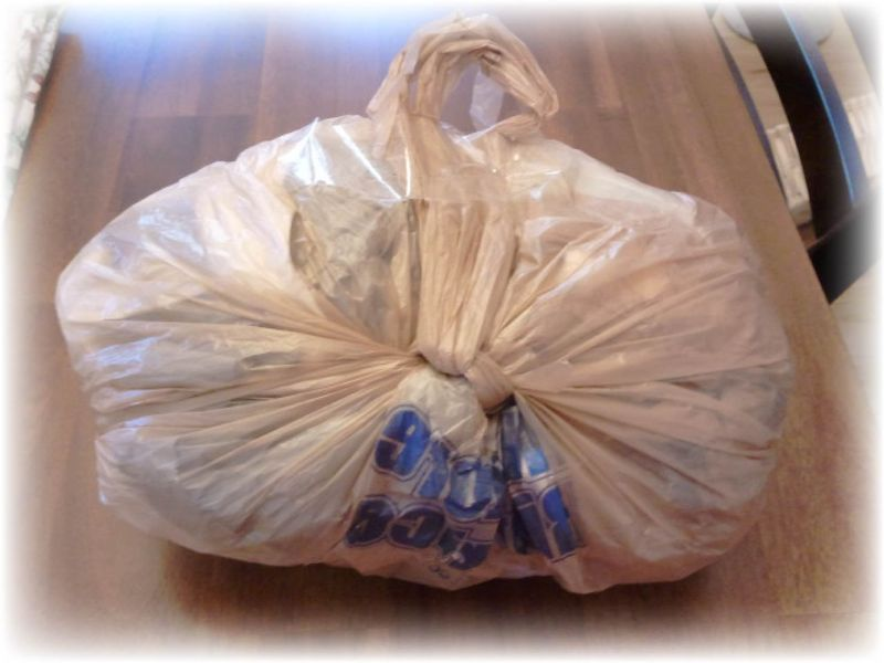 Upcycled T-shirt Petticoat and Plastic Bag Bustle Step 11