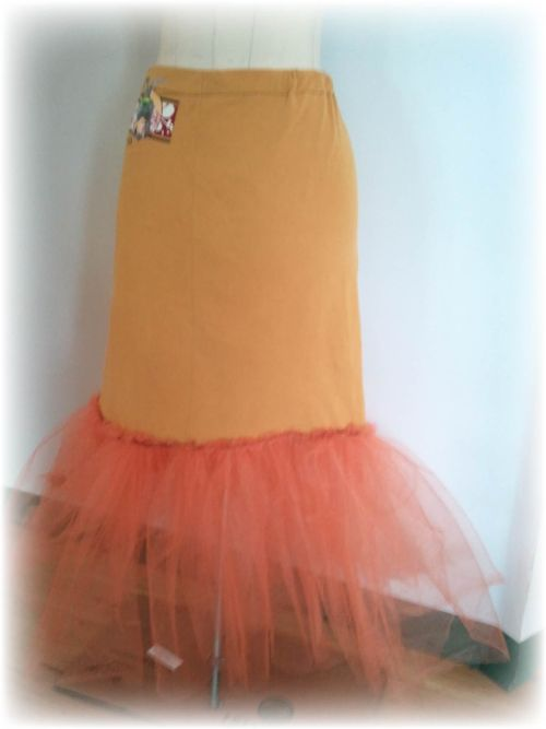 Upcycled T-shirt Petticoat and Plastic Bag Bustle Step 13