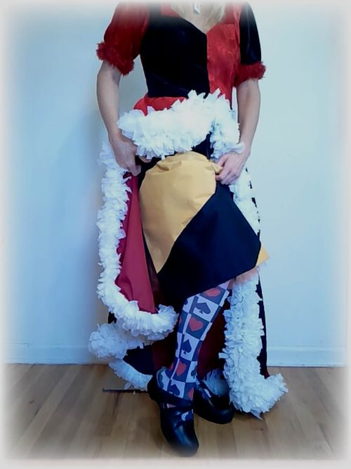Upcycled Queen of Hearts Costume 4