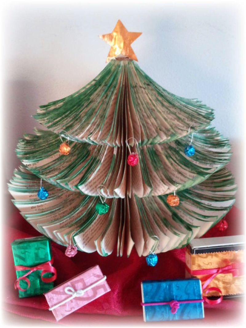 Upcycled Book Christmas Tree Sterp 7