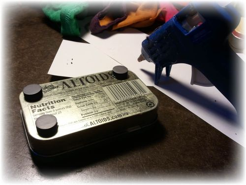 Upcycled Altoid Tin Magnet Chalk Holder Pic 2