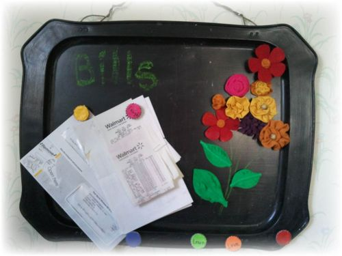 Upcycled Magnetic Chalkboard