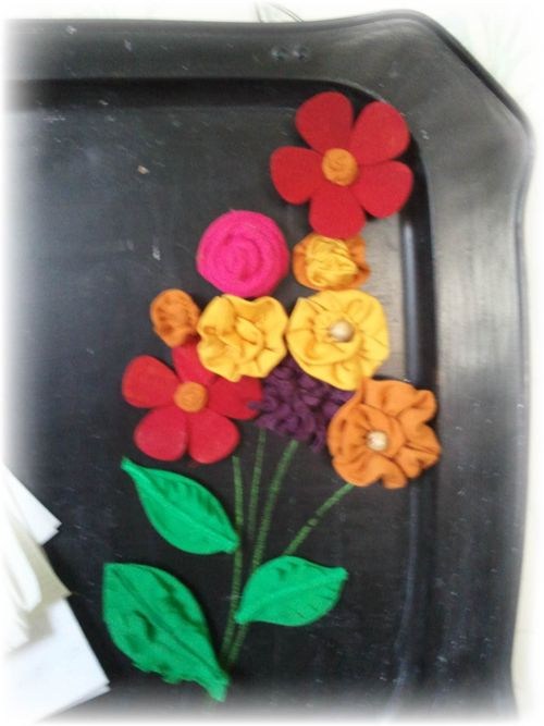 Upcycled Magnetic Chalkboard Pic 5